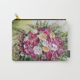 wedding bouquet magic, deep pinks and magenta floral bouquet Carry-All Pouch