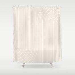 Minimal Line Curvature XI Shower Curtain