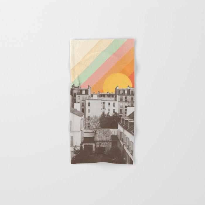 Rainbow Sky Above Paris Hand & Bath Towel