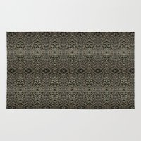 metallic Area & Throw Rugs featuring Metallic by Sarah McMahon