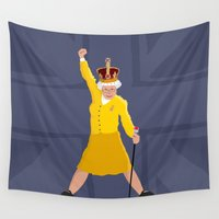 queen Wall Tapestries featuring QUEEN by Bakus