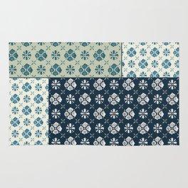 Vintage Tiles #society6 #pattern #indigo Rug