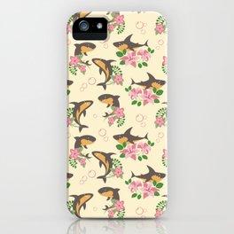 Fintastic Florals - Cream & Grey iPhone Case