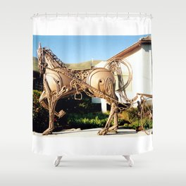 Horse & Plough by Shimon Drory Shower Curtain