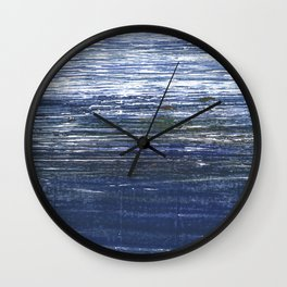Deep koamaru abstract watercolor Wall Clock