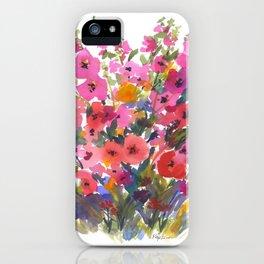 My Red Hollyhocks iPhone Case