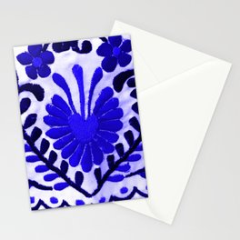Beautiful Midnight Blue Mexican Flower Stationery Cards