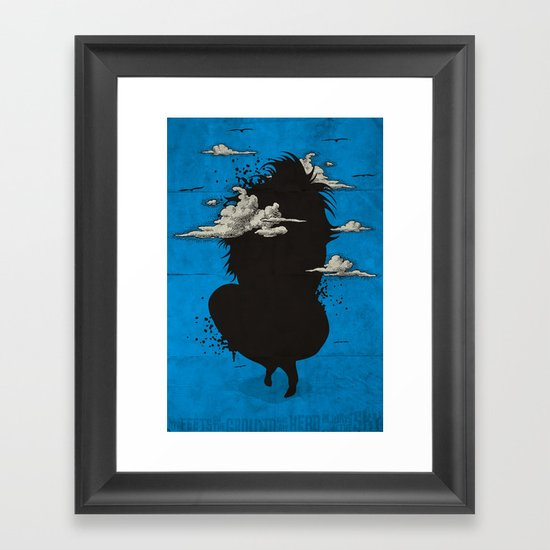 My head always in the sky... Framed Art Print