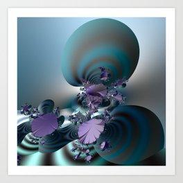 Purple leaves on radar of tranquility Art Print