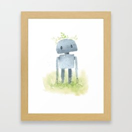 Little robot Framed Art Print