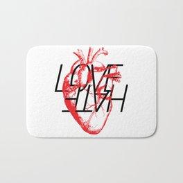 LOVE  –VS– HATE Bath Mat