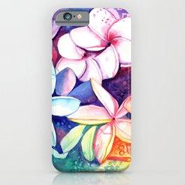 Plumeria Fun iPhone Case
