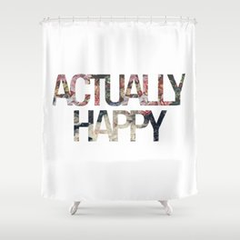 Actually // Happy Shower Curtain