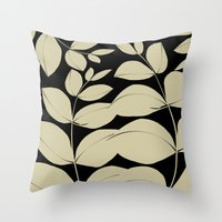 aelwen Throw Pillows featuring In the Jungle by Aelwen