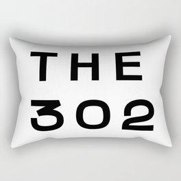 302 Delaware Area Code Typography Rectangular Pillow