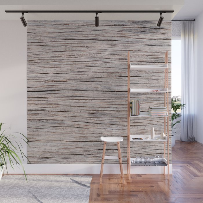 Wood Texture Background With Shallow Depth Of Field Interior Design Wall Decor Mural By Lubo
