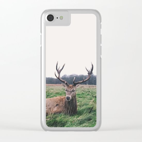 Deer #landscape Clear iPhone Case
