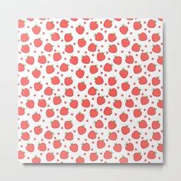 pattern with strawberries Metal Print