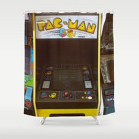 pacman Shower Curtains featuring PacMan by Brieana
