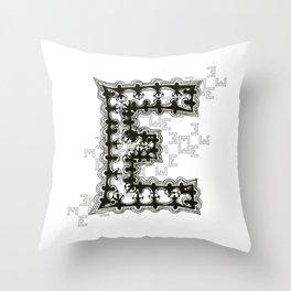 Color Me E Throw Pillow