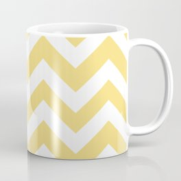 Mellow yellow - yellow color - Zigzag Chevron Pattern Coffee Mug