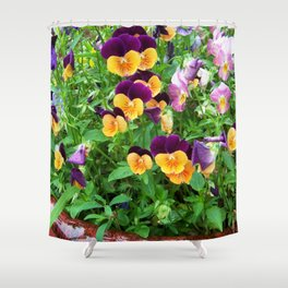 Petunias in a Pot Shower Curtain