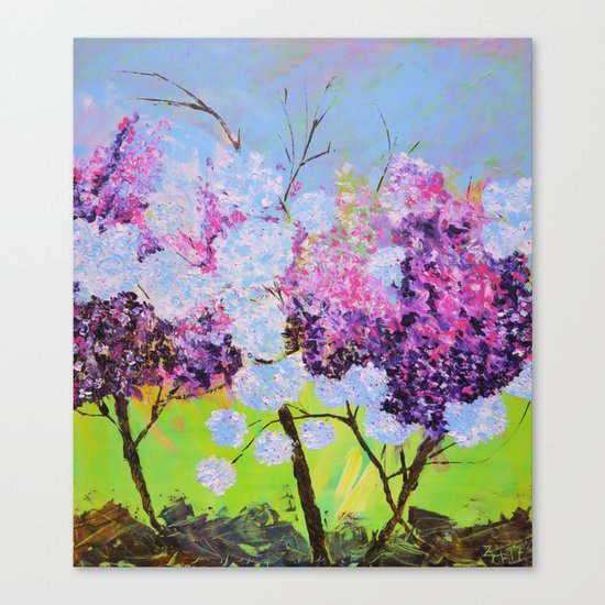 lilac painted Canvas Print