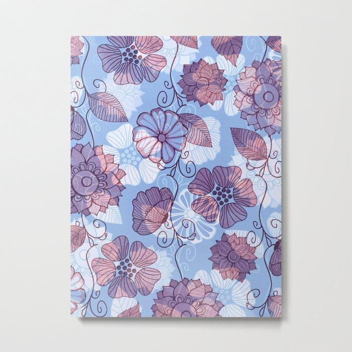 Flower Flow Metal Print