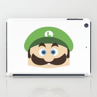 luigi iPad Cases featuring Super Mario Luigi  by Xiao Twins