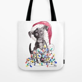 Helpful Puppy, Cute Christmas Tote Bag