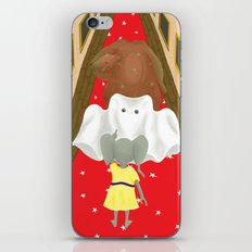 Boo! But Tiny Mouse I Think You Should Look Behind You! iPhone & iPod Skin