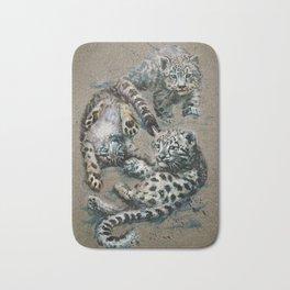 Snow leopard 2 background Bath Mat
