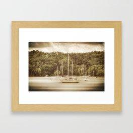 Smooth Sailing - Nostalgic Framed Art Print
