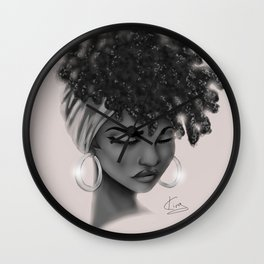 Hoops and Scarf Wall Clock