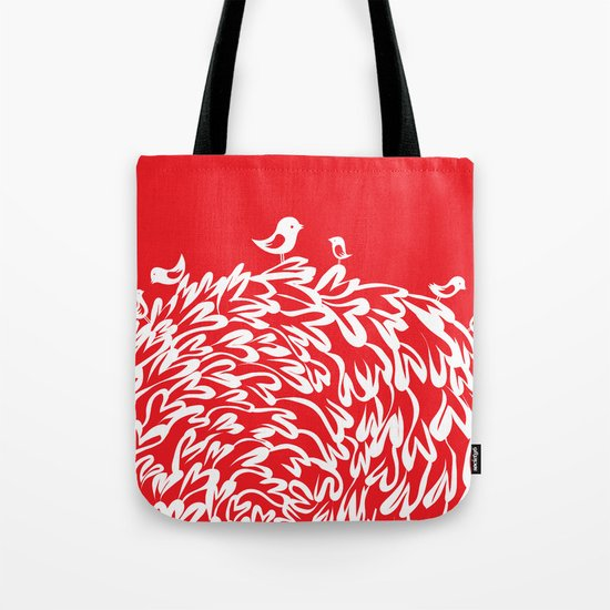 Red Birds Tote Bag