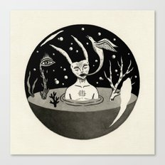 Water Orb with Rabbit Canvas Print