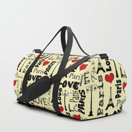 Paris text design illustration Duffle Bag