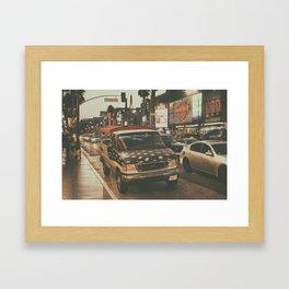 Hollywood Blvd Framed Art Print