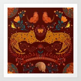 Endangered Species RED Art Print