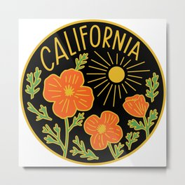 California Poppy Sun Metal Print