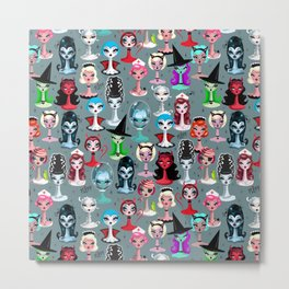 Spooky Dolls Metal Print