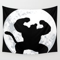 shingeki no kyojin Wall Tapestries featuring Night Monkey by TxzDesign