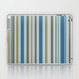 Stripey Design Gold Cream Brown Blues Laptop & iPad Skin