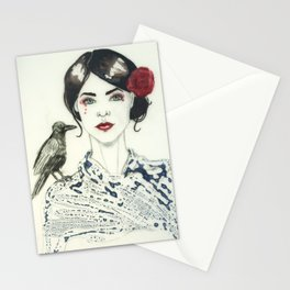 Rose's Raven Stationery Cards