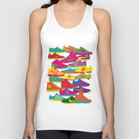 sneakers Tank Tops featuring Sneakers by Glen Gould