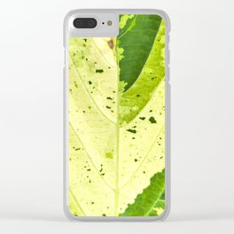 Leaf with abstract patterns 2 Clear iPhone Case