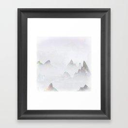 Emerald Mountains Framed Art Print