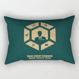 Lab No. 4 - Take Every Chance Drop Every Fear Corporate Start-up Quotes Rectangular Pillow