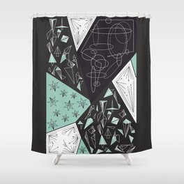 DARKSTAR GEOMETRIC Shower Curtain