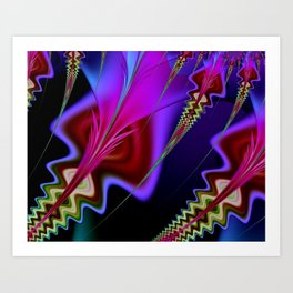 Psychedelia Abstract Fractal Art Print